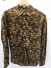 Gitman Vintage Camouflage Oxford Made In USA Size Large
