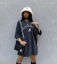 BNWT H&M Kangol Black Oversized T-Shirt Extra Small XS SOLD OUT Blogger Mabel
