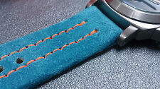 HANDMADE STRAP LE MANS GULF 24MM FOR MARINA MILITARE