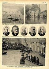 Hochwasser in Sachsen & Böhmen (Königstein u.Altstädter Mühlen) c.1900