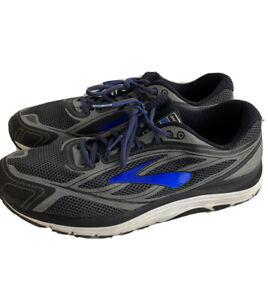 Brooks Dyad 9 Men's Gray Blue Lace Up Running Shoes Size 13 Medium Sneaker