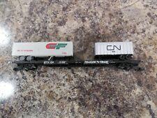 N Scale Arnold Rapido 0407T Flatcar, 86' Trailer Train GTTX #104