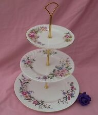SHABBY CHIC 3 TIER CAKE STAND - MIX & MATCH - DUCHESS/DOULTON/WEDGWOOD -