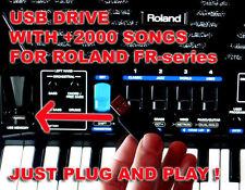 Usb pen thumb drive songs backtracks for accordion Roland Fr 1x xb 3x 8x 8xb 3xb