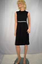 Vintage 60's Mod Scooter GOGO Black Wiggle Dress Chunky Rhinestone Belt XS/S