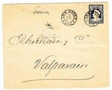 Chile Postal Envelope-HG:B14-LOS ANDES 3/DIC/1902-some toning-backstamped