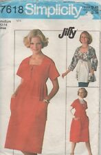 Simplicity 7618 Vintage Misses Tie Front Pullover Dress or Top Size 16