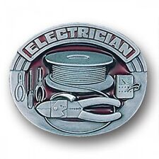 Pewter Belt Buckle Tradesman Electrician NEW - FREE SHIPPING