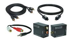 Digital zu Analog Konverter + 1,5m Toslink + 0,7m Cinch Kabel + Klinke-Adapter#