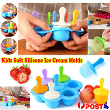 Baby Kids Soft Silicone Ice Cream Popsicle Molds Summer DIY Ice Maker Mould Tool