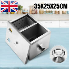 Commercial Kitchen Grease Trap Stainless Steel Interceptor Filter 35x25x25cm Usa