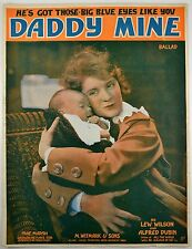 Daddy Mine 1918 Sheet Music Silent Film Star Mae Marsch Baby WWI song