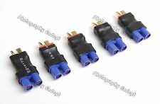 Lot(5) T-Plug Male to EC3 Female Adapter Connector Ultra Compact for RC Power