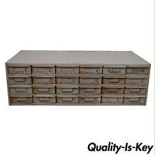 Vtg 24 Drawer Steel Metal Storage Tool Parts Cabinet Organizer Industrial Lyon A