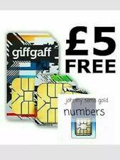🥳FREE IN DESCRIPTION 🥳 Giff Gaff Giffgaff sim  £5 free credit SIMCARD SMS o2