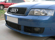 Audi A4 S4 B6 Euro RS4 Front Sport Mesh Honeycomb Grill S Line Black Rings 02-05