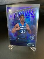 2019-20 Donruss Optic Jarrett Culver My House Purple Prizm Holo Timberwolves RC