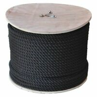 "All Gear Ag3stn12600b Rope,2-1/2 Ft. L,1/2"" Dia.,Black"