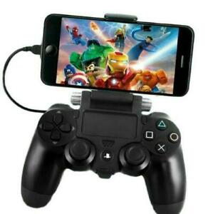 PS4 Controller Smartphone Clip Holder Phone Mobile Game Pad Mount Android iPhone