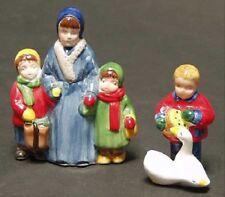 """*Dept 56 Snow Village Lot """"Family Mom/Kids, Goose/Girl"""" + """"Santa/Mailbox"""" - Ne 00004000 W*"""