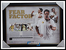 Mitchell Johnson Signed Fear Factor Retirement ACB Official Print Framed + COA