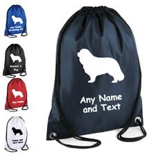 Cavalier King Charles Spaniel Personalised  Drawstring Bag Kids Pet School Gift