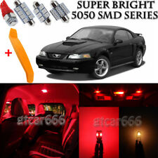 13 x Ultra Red Interior LED Lights Kit + TOOL For 1994 - 2004 Ford Mustang