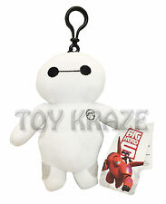 "BIG HERO 6 BAYMAX PLUSH KEYCHAIN! MEDIUM WHITE ROBOT COIN PURSE SOFT DOLL 7"" NWT"
