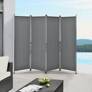 pro.tec Outdoor Trennwand 170x215cm Paravent Sichtschutz Spanische Wand Garten