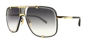 Dita Mach Five 2087 Sunglasses Gold-Matte Black Frame w/ Grey to Clear Gradient