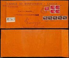 REGNO-Quartina 75c Imperiale+Striscia cinque 5c(243+252+257)Racc. Lucca 2.5.1929
