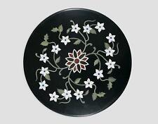 "18"" Black Marble Coffee Center Table Top Stone Handmade Inlay Art Home"