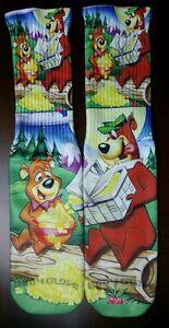 Custom Yogi Bear DRY FIT socks grape powder blue laney