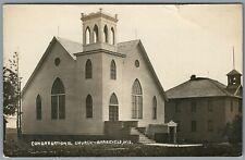 RPPC Postcard Barneveld WI Congregational Church Religious Kruxo Cook C1911-1922