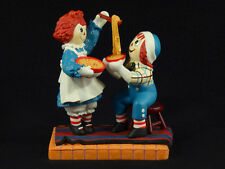 "Danbury Mint Raggedy Ann & Andy ""Home Cookin"" Figurine"
