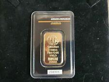 1 oz Argor Heraeus gold bar