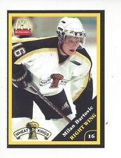 2000-01 Brandon Wheat Kings (WHL) Milan Bartovic (Vitkovice HC)