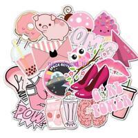 50 Pcs Pink Graffiti Waterproof Sticker to Suitcase Laptop Bicycle DIY Stickers