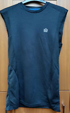 Mens Admiral Black sleeveless Training / Sports / Fitness Vest Top Size S