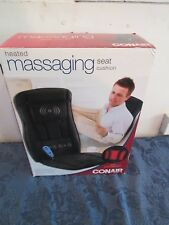 Conair Electric Massage Chair Pad Seat Heat Office Cushion Back Neck Vibration