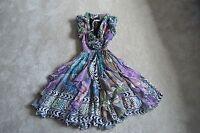 Matthew Williamson Silk Abstract Multi Colour Tie Waist Dress Women UK 6 EU 34