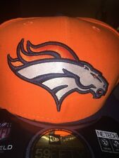 NWT New Era 59fifty 7 3/4 Denver Broncos ORANGE FITTED FLAT BILL Hat Cap