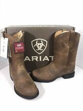 Ariat Heritage Roper Women's Size 7W Distressed Brown Leather Boots X2-286