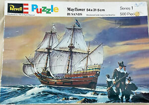 REVELL VINTAGE 1974 MAYFLOWER SHIP By Sands Jigsaw Puzzle 500pc Ser 1, VERY RARE