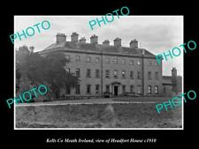 OLD POSTCARD SIZE PHOTO OF KELLS MEATH IRELAND VIEW OF HEADFORT HOUSE c1910
