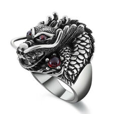 Chic Men Punk Alloy Rings Trendy Dragon Claw Finger Rings Halloween Accessories