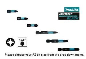 Makita Impact Black Pozi Screwdriver Bits PZ 1 2 3 Drive Driver Bit Impact Duty