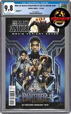 Rise of The Black Panther #2 MOVIE VARIANT CGC 9.8 Chadwick Boseman Tribute RARE