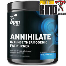BPM LABS ANNIHILATE BLUE RASPBERRY 50 SERVES INTENSE THERMOGENIC FAT BURNER OXY