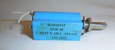 "Clarostat 62JA-5K  5K Ohm 10 Turn Pot Tol +/-5% Lin +/- .25%   1/4"" x 1/2"" Shaft"